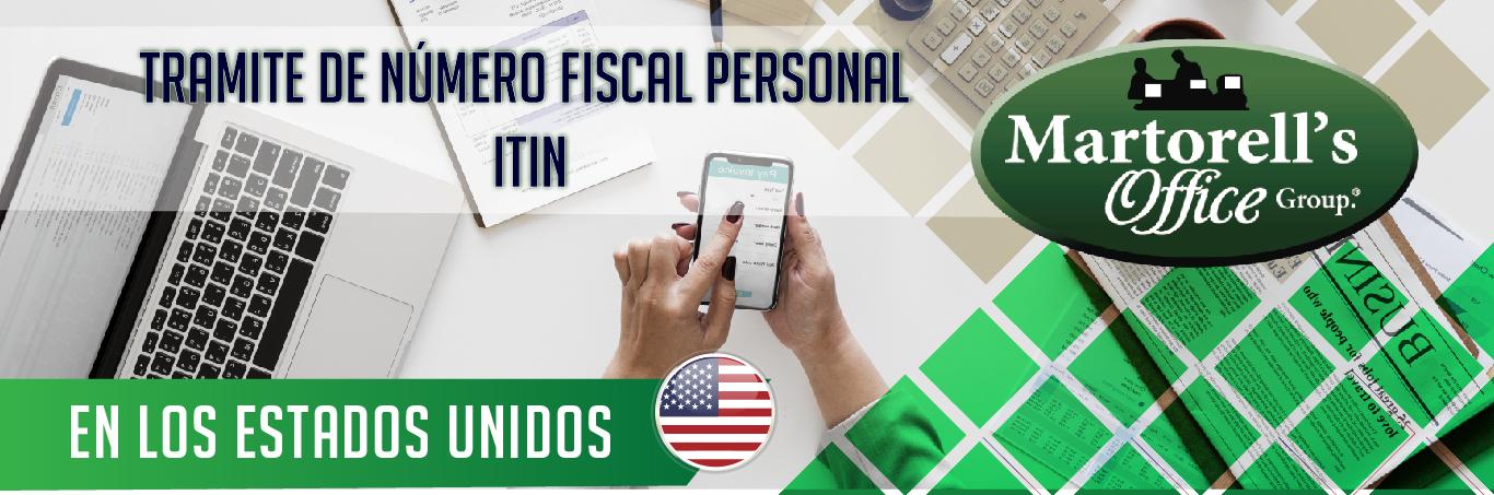 tramite de numero fiscal personal ITIN en los estados unidos